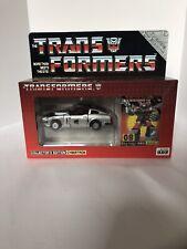 Raro Takara E-Hobby exclusivo G1 Transformers #08 reedición Blue Streak Menta en Caja Sellada