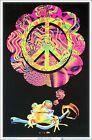 Mushroom Peace Frog Blacklight Poster 23 x 35