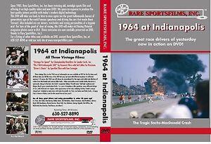 1964 Indy 500 on DVD! - A.J. Foyt wins, Sachs, MacDonald killed in fiery crash!