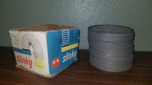 Vintage 1960s Original Steel Slinky Toy by James Industries-EUC