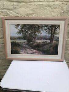 "DAVID DIPNALL Beautiful Framed Print  ""South Downs Way "" 34""x24"""