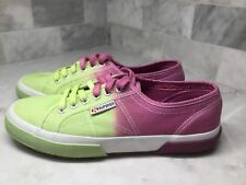 Superga Unisex Canvas Sneaker In Lime/Bordo Size US Mens 8 1/2, Womens 10