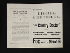 "Dionne Quintuplets & Movie Advertisement for ""the Country Doctor"" (1936)"