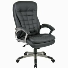 Boss High Back Executive Chair With Pewter Finished Basearms