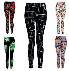 Girls Kids Leggings Trousers Printed Pattern Yoga Gym Sport Stretch Size Youth