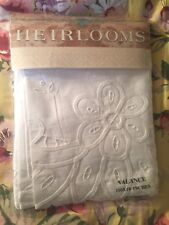 HEIRLOOMS LACE VALANCE CURTAIN 110x18 French Braid 100% COTTON