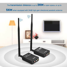 Wireless 2.4Ghz 2KM AV Sender TV Audio Video Trasmettitore Ricevitore PAL NTSC