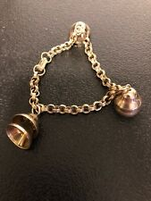 "Vintage Coro Bracelet With Bells Charm 7 1/2"" Long"