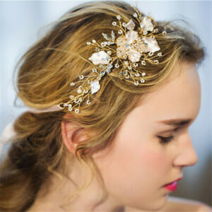 Handmade Crystal Flower Tiara Headband Headdress Wedding Hair Band Accessories