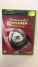 * Original Xbox Game * CHAMPIONSHIP MANAGER SEASON 02 / 03 * XBOX *