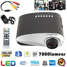 Mini LED HD 1080P 3D Projector Multimedia Meeting Home Cinema Theater 7000 lumen