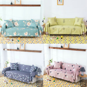 1 2 3 4 Seater Sofa Covers Throw Towel Couch Slipcover Settee Chair Protector