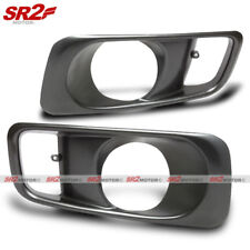 Gunmetal ABS Fog Lamp Light Bezel Bumper Cover fits 99-00 Honda Civic