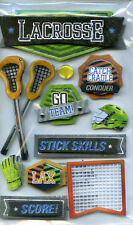 "Paper House ""LACROSSE "" 3D Dimensional Scrapbooking Stickers -"
