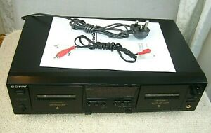 Quality SONY TC-WE475 Stereo Double Cassette Tape Deck - Mint condition