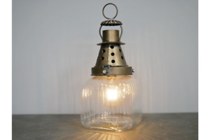37cm Industrial Style Battery Operated Desk Lantern Light Lamp