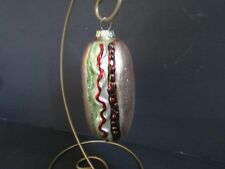 HOT DOG~Blown Glass~ Christmas Tree~ORNAMENT~4.5""