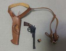 Custom Made 1/6 Scale Police Revolver Pistol whit Belt Holster dirty harry 44