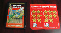 Vintage 1983 Intellivision Happy Trails Video Game Cartridge with Overlays
