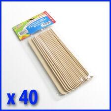 40  pce  20 cm x 2 cm Jumbo Paddle Pop Sticks, Natural  colour, Scrapbooking