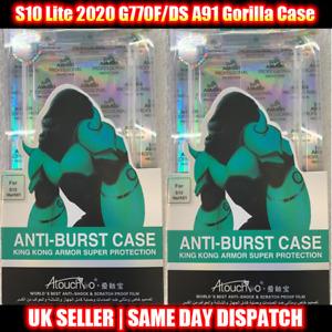 Anti-Burst Gorilla Case for S10 Lite 2020 G770F/DS A91 + Tempered Glass + Case