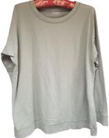Eileen Fisher Women's Top Long Sleeve Shirt Organic Cotton GreenPetite Medium