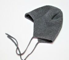 Maximo  Gray Knit Infant Baby Boy Aviator Winter Hat 3-9 month