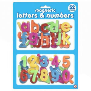 Magnetic Letter and Numbers - Learning Fridge Magnets for Children - 52 Pieces