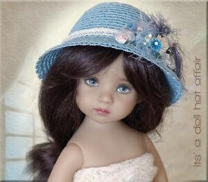 BASHFUL BLUE Doll Hat Effner Little Darling Ellowyne Prudence Iplehouse SID EID