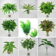 Artificial Plants Indoor Fake Flower Leaf Foliage Bush Home Wedding Party Decor