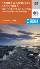 Cardiff and Bridgend 151 Explorer Map Ordnance Survey With Digital Download