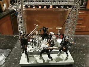 Mcfarlane Toys KISS ALIVE Special  Edition Super Stage Figures, stage working