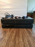 Technics Stereo Equalizer SH-8017 & Synthesizer Tuner ST-K50 Lot w/cables TESTED