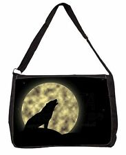 Wild Wolf /'Love You Dad/' Large Black Laptop Shoulder Bag School//Colle DAD-152SB