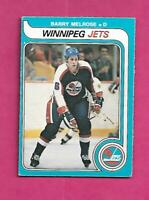 1979-80 OPC  # 386 JETS BARRY MELROSE  ROOKIE GOOD CARD (INV# C6467)