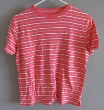 Kim Rogers Women's Orange and White Striped Shirt Women's Size S