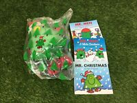McDonalds Mr Men Mr Christmas Soft Toy Plush Teddy Bear 30 Years 3 Books Bundle