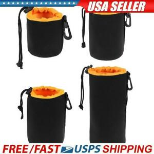 Waterproof Soft Neoprene Camera Lens Pouch Bag Drawstring Protector Case
