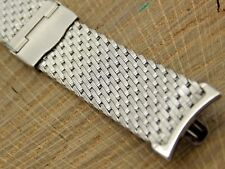 "Kreisler Vintage Watch Band 19mm Sliding Clasp Unused NOS Stainless Steel 7"""