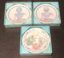 3 Vintage 1992 Precious Moments 4� Plates New In Original Packaging