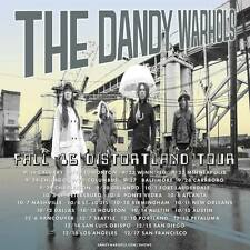 """The Dandy Warhols """"Fall 2016 Distortland Tour"""" North American Concert Poster"""