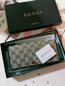 Gucci Gg Canvas Chain Bi-Fold Long Wallet 170426