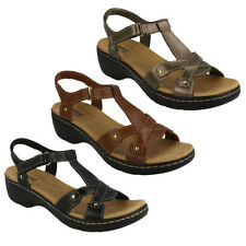 Clarks Wedge T Bars Sandals & Beach Shoes for Women