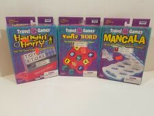 Irwin Travel Games Lot Of 3 All Complete Vintage Hangin Harry RollaWord Mancala