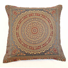 Mandala Cushion Covers Grey Banarasi Indian 38cm Indian