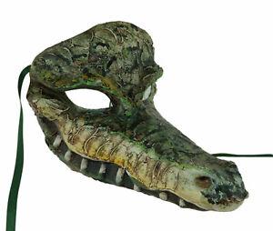 Masque de Venise Crocodile Aligator Authentique en Papier Mache - 2472 VG1