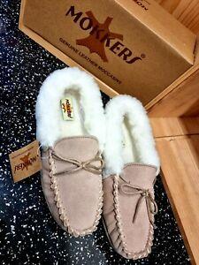 Ladies Mokkers Slipper Genuine Leather And Sheepskin uk 7
