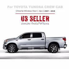 Chrome Window Vent Visors Rain Guard  for Toyota Tundra Crew Cab(CrewMax) 07-18