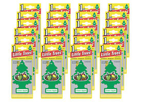 Little Trees Hanging Car and Home Air Freshener, Green Apple Scent - Pack of 24