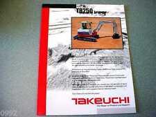Takeuchi TB250 Excavator Brochure